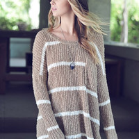 Rise and Shine Knitted Striped Sweater