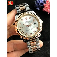 Rolex Hot Sale Women Men Diamond Quartz Watch Movement Wrist Watch