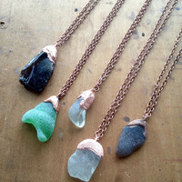 Seaglass Necklace - Beach Tumbled Glass