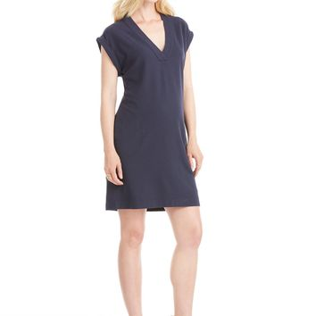 ATM Anthony Thomas Melillo Pique V-Neck Dress