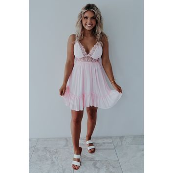 The Sweetest Girl Dress: Baby Pink