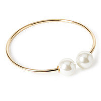 Faux Pearl Collar Necklace