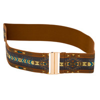 Mod Aztec Belt - Brown