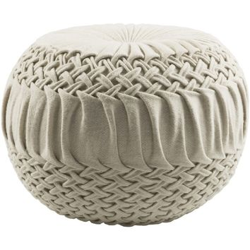 Solid Color Amy Round Wool/Nylon Pouf (18 x 18 x 14) | Overstock.com Shopping - The Best Deals on Throw Pillows