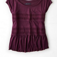 AEO Women's Knit Mesh T-shirt