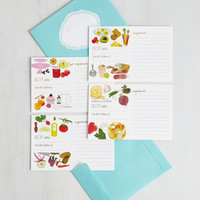 Handmade & DIY Send It Post-Taste Recipe Cards by Chronicle Books from ModCloth