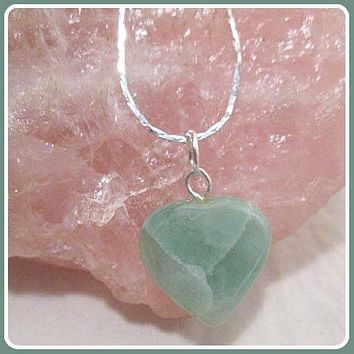 """Growth & Renewal"" Green Aventurine Heart Necklace"