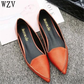 2018 Women Fashion Spring Ladies Pointed Toe Flat shoes Ballet Shallow Shoes Loafers Slip On Casual Shoes for women C164