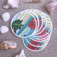 THE ADMIRAL'S DAUGHTERS ENDLESS SUMMER VINYL CIRCLE STICKERS