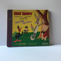BUGS BUNNY RECORD, Vintage Bugs Bunny recordings, Mel Blanc Bugs Bunny, Daffy Duck, Porky Pig, Merrie Melodies, Looney Tunes, vintage record
