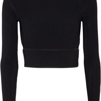 Jonathan Simkhai - Cutout ribbed stretch-knit top