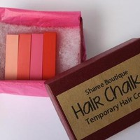 Pink, Red Ombre 4 Hair Chalk Set from Sharee Boutique