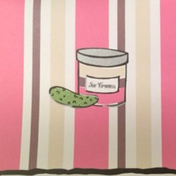 Inviting Company Pickles and Ice Cream Blank Notecards