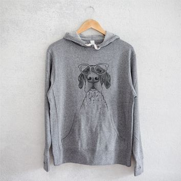 Booze the German Shorthaired Pointer - French Terry Hooded Sweatshirt