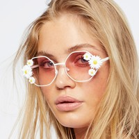 Free People Ditsy Daisy Sunglasses