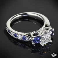 Custom 3 Stone Diamond Engagement Ring | 12503