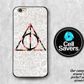 Deathly Hallows iPhone 6s Case iPhone 6 Case iPhone 6 Plus Case iPhone 6s Plus iPhone 5c Case iPhone 5 Case Harry Potter Roses Floral Flower