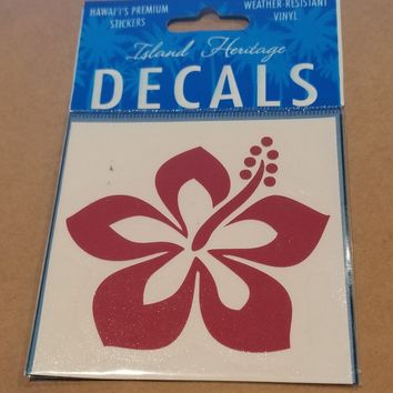 Red Hibiscus Sticker/Decal