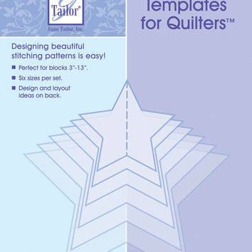Mix'n Match Templates For Quilters 6/Pkg-Star