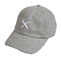 Kings Apparel Hardgraft Curved Peak Strapback In Grey