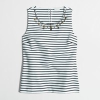Factory jeweled ponte shell in stripe : Sleeveless | J.Crew Factory