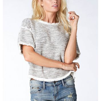 Raw Edge Crop Top