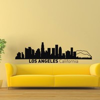 Wall Decal Vinyl Sticker Los Angeles Skyline City Scape Silhouette Decor Sb149
