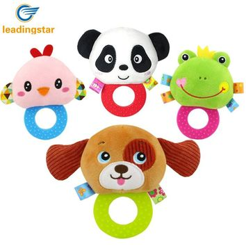 LeadingStar Baby Rattle Hand Bell Toys Plush Panda Bird Frog Dog Rattle Dolls Gifts for Infants