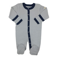 Baby footed sleepsuit - ash (light grey)