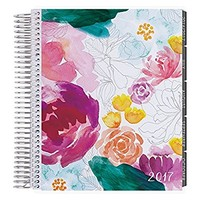 Erin Condren 12 month 2017 Life Planner - Watercolor Floral Horizontal Neutral, Neutral Interior (AMA-12M 2017 34)