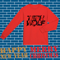 teen wolf cool logo red long sleeves on S-3XL.