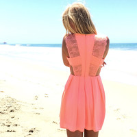 Proper Love Babydoll Dress In Neon Pink