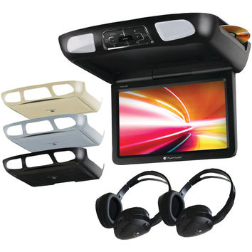 "Planet Audio 10.1"" Ceiling-mount Tft Dvd Player With Built-in Ir & Fm Transmitters & 3 Color Housings"