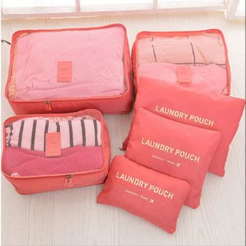 Organizer Bag Cosmetic Pouch Bag Large Capacity Storage 6 In 1 Organizer Clothes Portable Organizer Travel Cosmetic Case