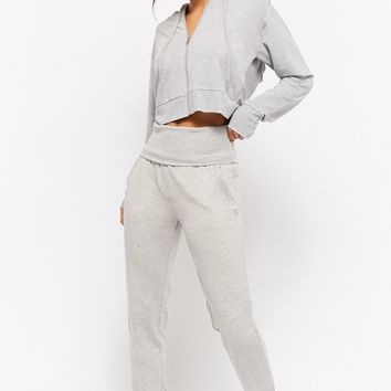 Active Heathered Foldover Joggers