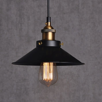 Painted Iron Pendant Lighting Vintage Lamp Holder Incandescent Bulbs Touch Switch Stainles Vintage Industrial Lighting Fixtures