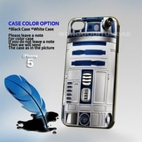 Star Wars R2D2, Print on Hard Cover iPhone 5 Black Case