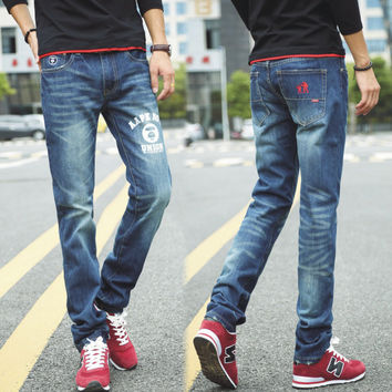 Fashion Korean Men Slim Stylish Jeans [6528464835]