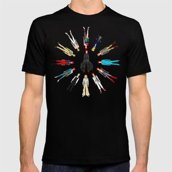 Bowie Circle Group T-shirt by Notsniw