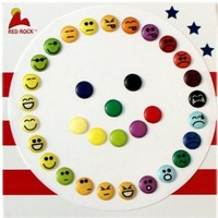 Goofy Happy Angry Smile Face Smiley Faces Home Button Stickers for iPhone 5 4/4s 3GS 3G, iPad 2, iPad Mini, iTouch 33 Piece Set