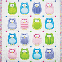 Baby Quilt, Pattern, The Hoots, Amy Bradley Designs