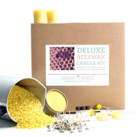 Complete DIY Beeswax Candle Making Kit - make 68 beeswax candles including Tealights, Tins & Votives