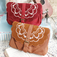 Handmade Ethnic Flower Hand Applique Embroidery Pattern Design Bag