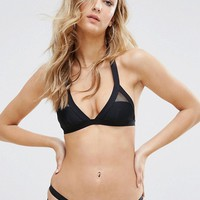 New Look Bandage Triangle Bikini at asos.com