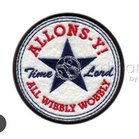 Allons-y Doctor Who Iron On Patch