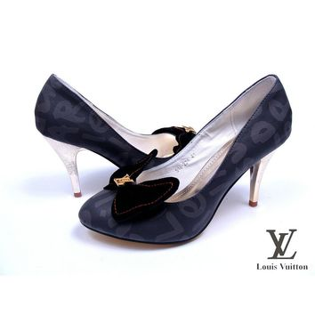 Louis Vuitton Bow Women Fashion Heels Shoes