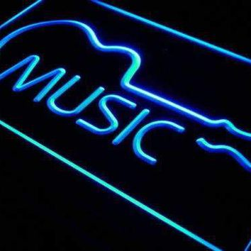 Music Guitar Instruments Neon Sign (LED)