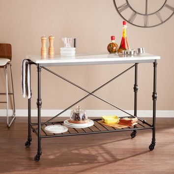 Maison Rouge Jordan Rolling Kitchen Island | Overstock.com Shopping - The Best Deals on Kitchen Carts
