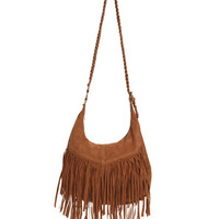 Braided Fringe Hobo Bag | Shop Accessories at Wet Seal