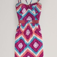AEO Women's Printed Corset Dress (Purple)